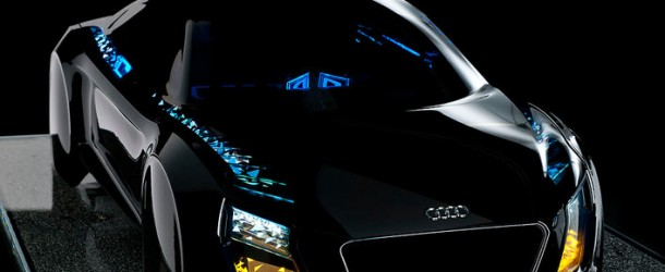 Audi concept futuristic car lights