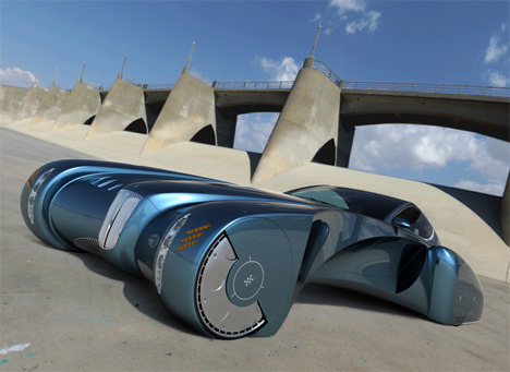 Creative Visual Art Bugatti Stratos Concept Car