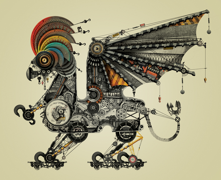 Creative Visual Art A Menagerie Of Mechanical Animals By