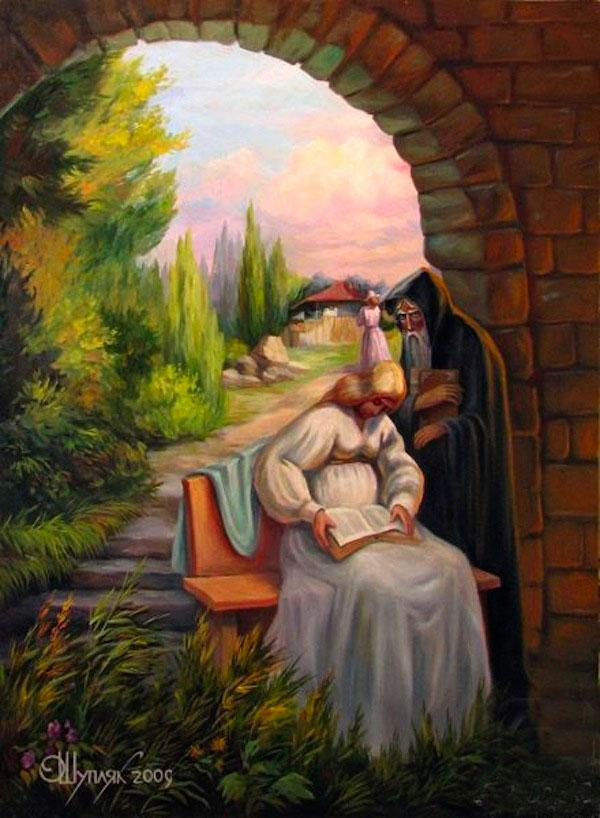 optical illusion paintings shuplyak oleg masters visual artist painter famous illusions creative faces ukranian oil op painting artworks face classic