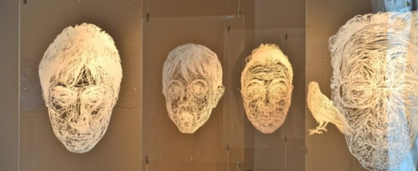 Carefully Sliced Paper Portraits