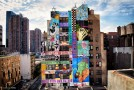 Faile's New Mural On 44th Street In New York City, USA