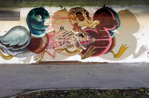 "Nychos ""Dissected Duck"" New Street Piece – Alterlaa, Vienna"