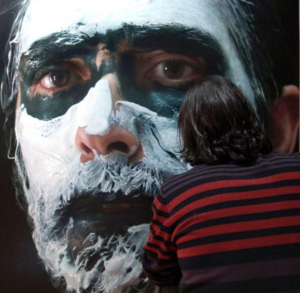 Creative Visual Art Hyper Realistic Self Portraits Oil